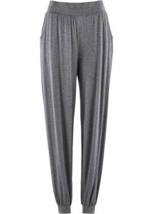Трикотажные брюки-шаровары (серый меланж) bonprix. Цвет: серый меланж