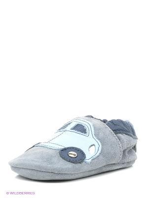 Ботиночки Shooshoos. Цвет: серый, голубой