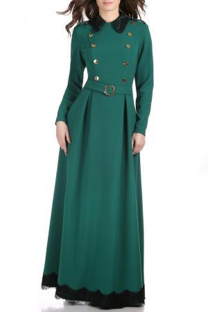 Платье Olivegrey. Цвет: изумрудный