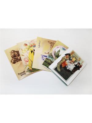 Набор поздравительных открыток от Е.Рождественской №2 Даринчи. Цвет: фиолетовый