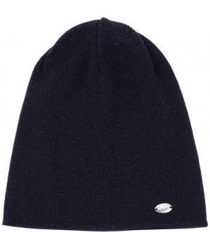 Синяя вязаная шапка из вискозы Capo. Цвет: синий