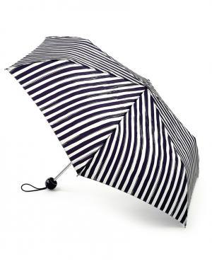 Зонт механический Полоски  by Fulton Lulu Guinness. Цвет: черный