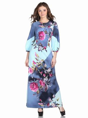 Платье OLIVEGREY. Цвет: серо-голубой, светло-голубой
