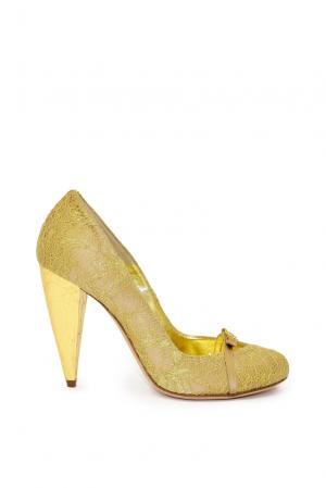 Туфли PO-191493 Gerardina Di Maggio. Цвет: желтый
