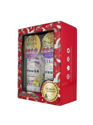 Набор подарочный VOLOUTE Damage Care по уходу за волосами шампунь + кондиционер Хинагику. Цвет: красный, желтый