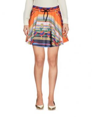 Мини-юбка ODI ET AMO. Цвет: оранжевый