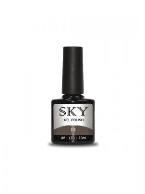 Гель-лак SKY 10 мл №113,. Цвет: серый, коричневый