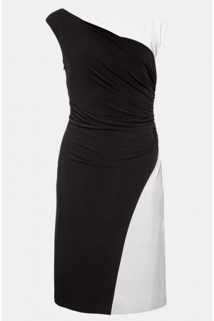 Платье из джерси Apart. Цвет: черно-кремовый