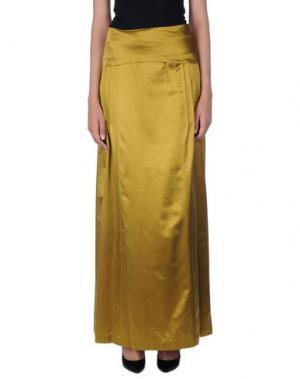 Длинная юбка INTROPIA. Цвет: охра