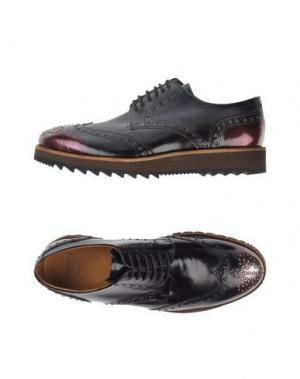 Обувь на шнурках SARTORI GOLD. Цвет: баклажанный