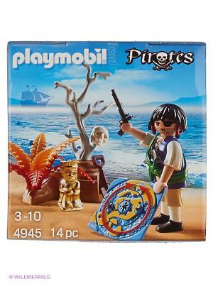 Яйцо: Пират в поисках сокровищ Playmobil. Цвет: синий