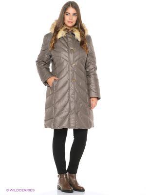 Пальто MOHNASS. Цвет: коричневый