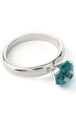 Кольцо Бриллиант Crocus-Elite. Цвет: голубой