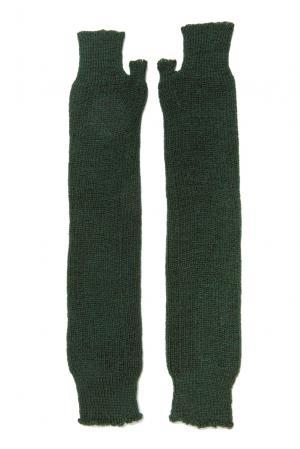 Митенки из шерсти 153307 Norsoyan. Цвет: зеленый