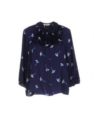 Блузка TUCKER. Цвет: темно-синий