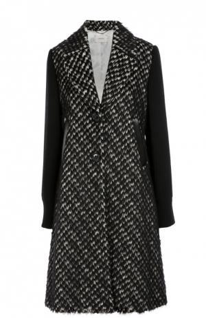 Пальто прямого кроя с широкими лацканами Dorothee Schumacher. Цвет: черно-белый