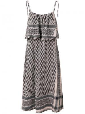 Ruffled midi dress Cecilie Copenhagen. Цвет: чёрный