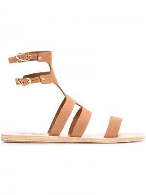 Босоножки Agapi Ancient Greek Sandals. Цвет: коричневый