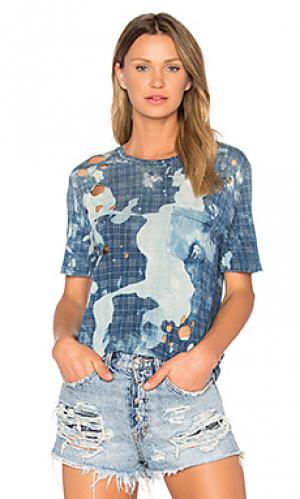 Рваная футболка PRPS Goods & Co. Цвет: синий