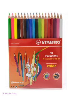 Набор цветных карандашей, 15 +3 Stabilo. Цвет: прозрачный