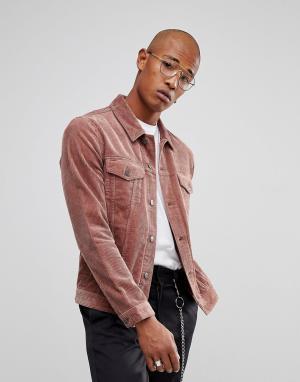 ASOS Розовая вельветовая куртка. Цвет: розовый