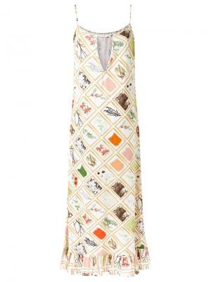 Длинное платье Isabela Capeto. Цвет: телесный