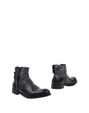 Полусапоги и высокие ботинки LE QARANT. Цвет: стальной серый