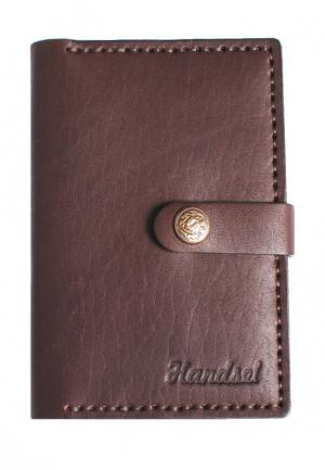 Обложка для документов Handsel. Цвет: коричневый