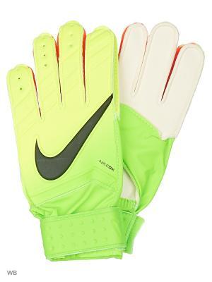 Вратарские перчатки NIKE GK MATCH. Цвет: салатовый, белый, желтый