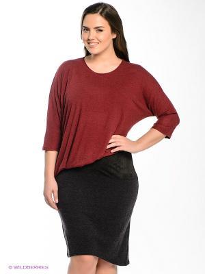 Платье МадаМ Т. Цвет: бордовый, черный