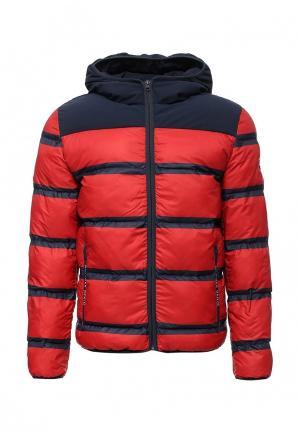 Куртка утепленная Tommy Hilfiger Denim. Цвет: красный