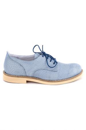 Туфли Elena. Цвет: голубой