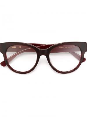 Оптические очки в круглой оправе MCM. Цвет: красный