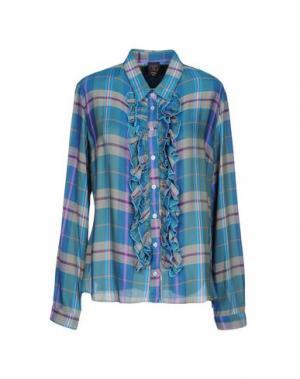 Pубашка GUTTHA. Цвет: лазурный