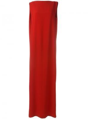 Длинное прямое платье Chalayan. Цвет: красный