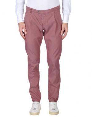 Повседневные брюки OAKS. Цвет: кирпично-красный