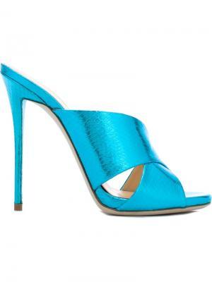 Мюли Bella Giuseppe Zanotti Design. Цвет: синий