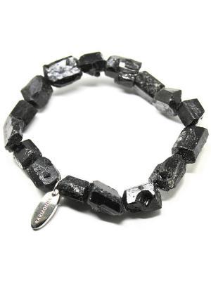 Браслет из черного турмалина KARMONIA. Цвет: черный