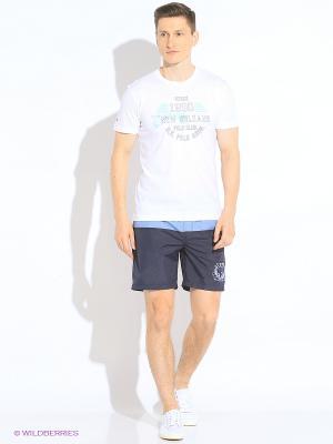 Шорты спорт U.S. Polo Assn.. Цвет: светло-голубой, темно-синий