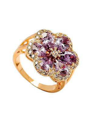 Кольцо Only Happy. Цвет: фиолетовый, золотистый