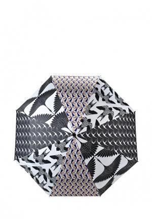 Зонт складной Kawaii Factory. Цвет: черно-белый