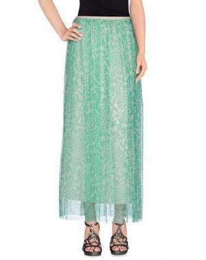 Длинная юбка NIOI. Цвет: зеленый