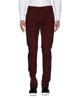 Повседневные брюки SSEINSE. Цвет: красно-коричневый