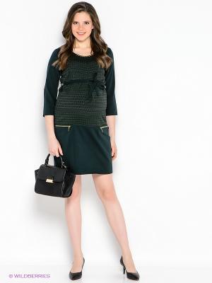 Платье EUROMAMA. Цвет: темно-зеленый