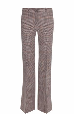 Шерстяные расклешенные брюки Theory. Цвет: красный