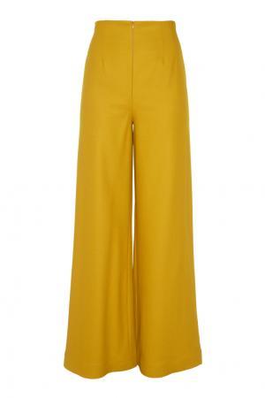 Расклешённые брюки Arapkhanovi. Цвет: зеленый