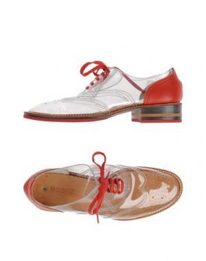 Обувь на шнурках ZUCCA. Цвет: прозрачный