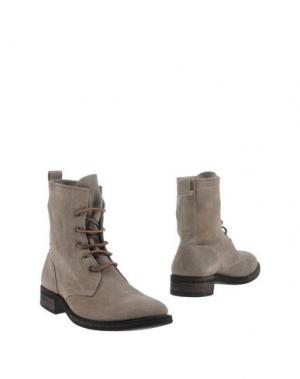 Полусапоги и высокие ботинки 01000010 by BOCCACCINI. Цвет: серый