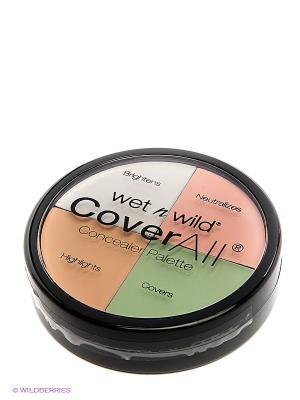 Набор корректоров для лица coverall concealer palette Wet n Wild. Цвет: бежевый