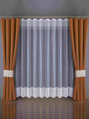 Комплект штор Wisan. Цвет: белый, терракотовый